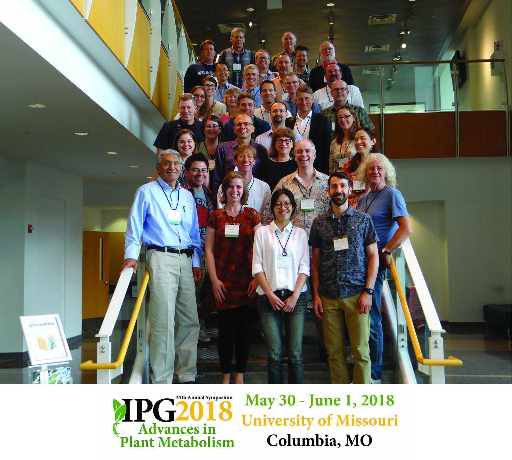 "The 35th Annual Interdisciplinary Plant Group (IPG) Symposium ""Advances in Plant Metabolism""  held May 30 – June 3, 2018. <br><br><a href=https://ipg.missouri.edu/feature-stories/35thAnnu_07012018.cfm>READ MORE>></a>"