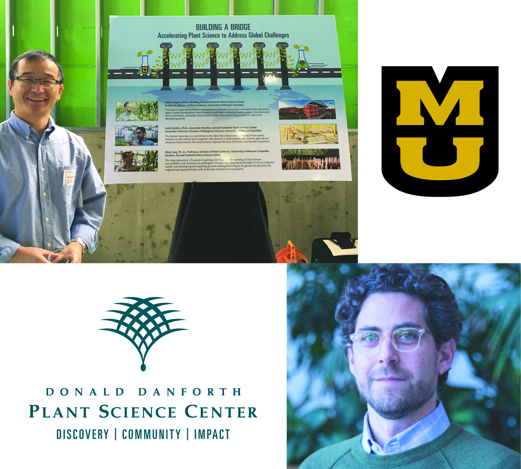 Two new faculty members joined the University of Missouri this fall as part of the initiative between MU and the Donald Danforth Plant Science Center (DDPSC) to elevate plant science in Missouri. <br><br><a href=https://ipg.missouri.edu/feature-stories/Universi_10012018.cfm>READ MORE>></a>